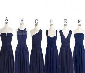 navy blue bridesmaid..