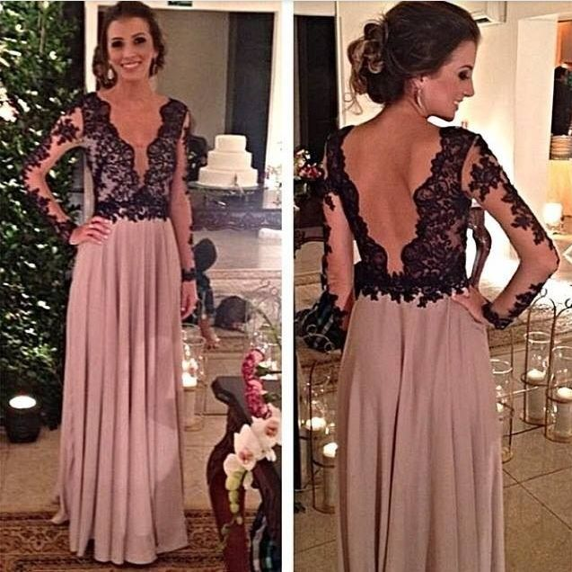 88c5ae9e1d0be long prom dress, lace prom dress, long sleeves prom dress, cheap prom dress