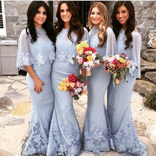Mermaid Bridesmaid Dress Elegant Dresslong Dresscustom