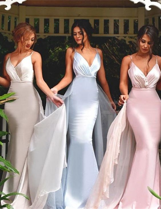 V-neck Bridesmaid Dresses,Mermaid Bridesmaid Dress,Sexy bridesmaid dress,Unique bridesmaid dress, Wedding Party Dresses,Long Bridesmaid Dress,Bridesmaid Dresses,Bridal Gowns,17671