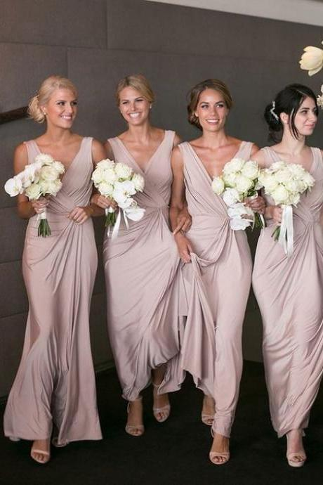 new arrival v neck soft cheap affordable unique sexy formal elegant bridesmaid dress, weeding guest dresses, 17915