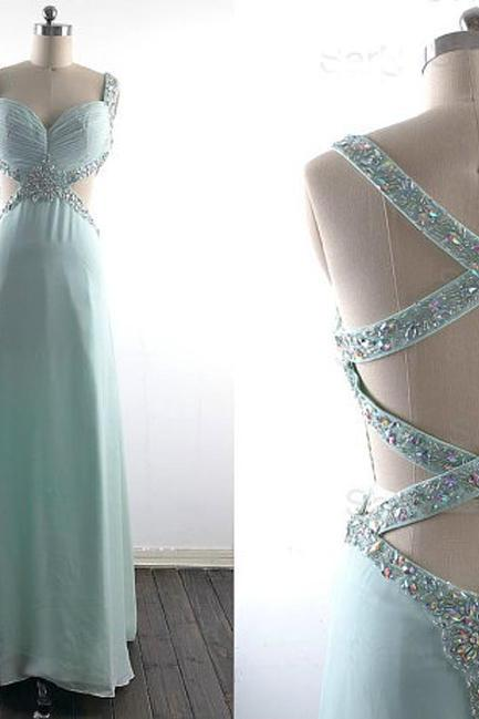 long prom dress, blue prom dress, cheap prom dress, prom dress with beading, prom dress 2016, long evening dress, party prom dress, 141703