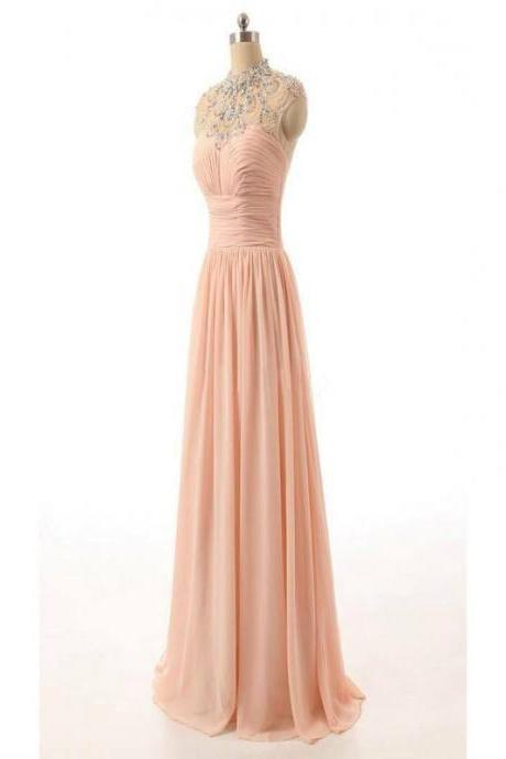 long prom dress,evening prom dress , sleeveless dress,pink prom dress ,affordable bridesmaid dress,cheap bridesmaid dress,discount bridesmaid dress,1707