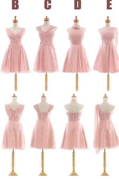 Pink bridesmaid dresses ,short bridesmaid dresses ,A-line bridesmaid dresses ,custom bridesmaid dresses ,cheap bridesmaid dresses ,popular bridesmaid dress ,2016 bridal dresses,17186