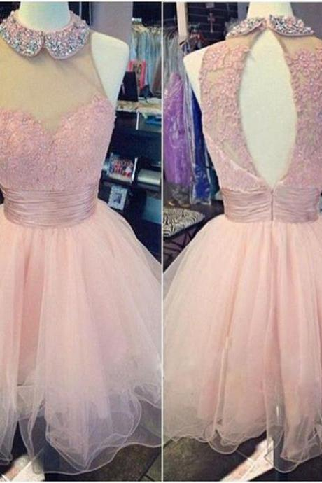 short prom dress ,lovely homecoming dress ,sleeveless homecoming dress ,open back prom dress ,pretty prom dress ,homecoming for junior ,popular prom dress , 17187