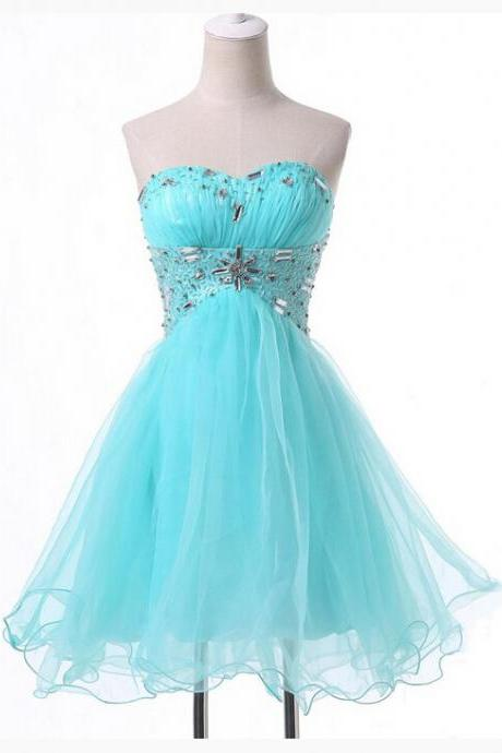 Beautiful Homecoming Dress,Tulle Homecoming Dress,Blue Homecoming Dress,Short Homecoming Dress,Sweetheart Homecoming Dress,Homecoming Dress,17179