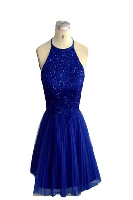 Short Homecoming Dress,Sparkly Homecoming Dress,Beading Homecoming Dress,Open Back Homecoming Dress,Halter Homecoming Dress , Homecoming Dress,Cocktail Dresses,Graduation Dress,17297