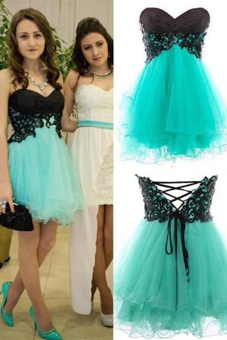Short Homecoming Dress, Sweetheart Homecoming Dress,Tulle Homecoming Dress, Lace Up Homecoming Dress,Sexy Prom Dress ,Homecoming Dress,Cocktail Dresses,Graduation Dress,17298