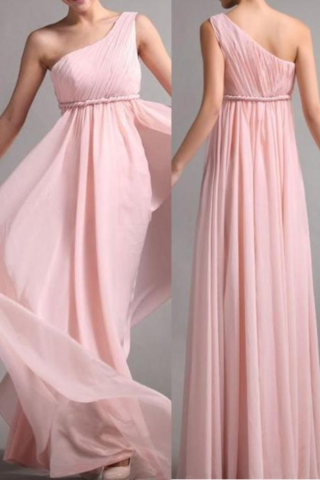 Chiffon Bridesmaid Dress ,Simple Bridesmaid Dress,Elegant Bridesmaid Dress,One Shoulder Bridesmaid Dress, Long Graduation Dress, Wedding Party Dresses,Long Bridesmaid Dress ,Bridesmaid Dresses,Custom Bridesmaid Dress,17379