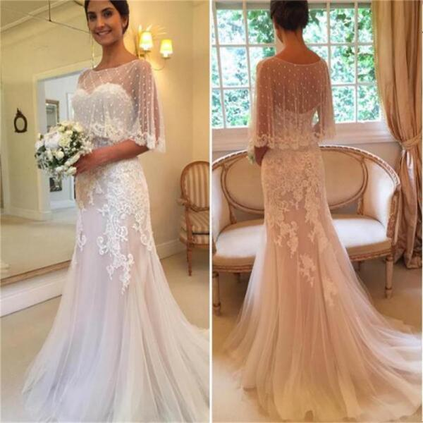 Unique Design Wedding Dresses, Sweetheart Wedding Dresses, Mermaid Applique Tulle Sexy Sweep-Train Wedding Dresses, Modest Wedding Dresses ,Custom handmade Wedding Dresses, 17892