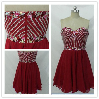 short prom dress, burgundy prom dress, junior prom dress, dresses for girls, cocktail dress, homecoming dress, party prom dress, 1420