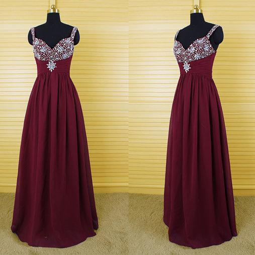 long prom dress, burgundy prom dress, party prom dress, chiffon prom dress, cheap prom dress, evening prom dress, 141309