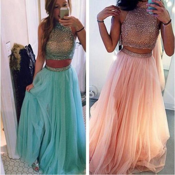 long prom dress,tow pieces prom dress,sleeveless prom dress,party prom dress ,evening prom dress,custom prom dress,elegant prom dress,discount prom dress,2016 prom dress,1720