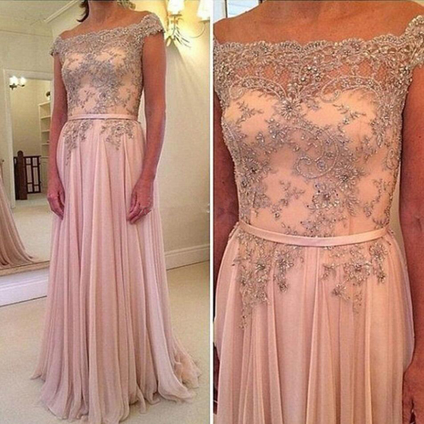 long prom dress,A-line prom dress,pink prom dress,party prom dress,cap sleeves prom dress,chiffon prom dress,sexy prom dress,cheap prom dress,discount prom dress,1722