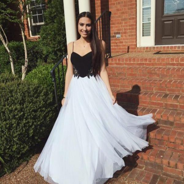 Long Homecoming Dress,Spaghetti Straps Prom Dress,Evening Prom Dress ,Long Prom Dress ,Simple Homecoming Dress,Tulle Homecoming Dress,Homecoming Dress,17243
